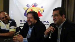 Diretor Parlamentar (CEDS -MG) Paulo Sérgio, Presidente Leonardo Catão (CEDS/MG) e o Deputado Federal Wadson Ribeiro (PCdoB/MG)