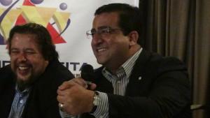 Presidente Leonardo Catão (CEDS/MG) e o Deputado Federal Wadson Ribeiro (PCdoB/MG)