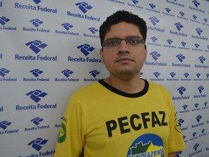 Danilo Costa, representante do sindicato dos  servidores administrativos (Foto: Jorge Abreu/Site)