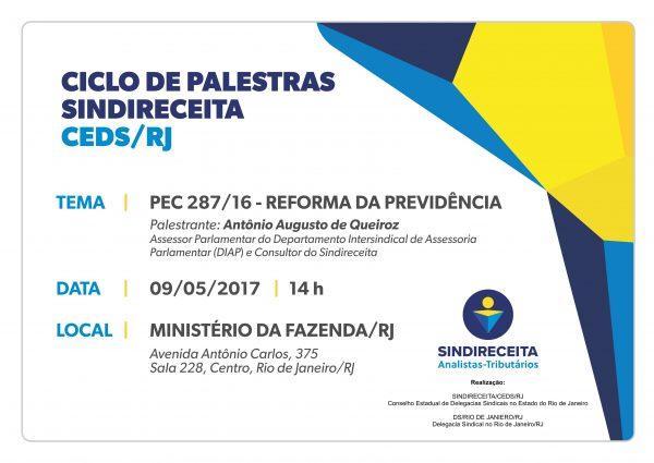 Ciclo de Palestras SINDIRECEITA/CEDS/RJ: Reforma da Previdência